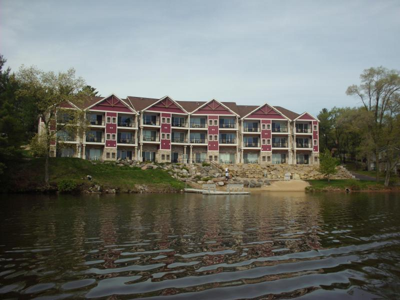 View of Condo from Lake - Beach House Condo - Wisconsin Dells - rentals