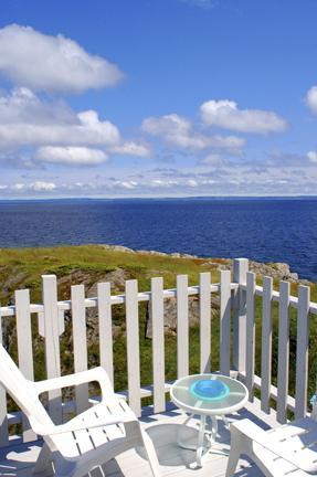 View from the deck - Cliff House in Port de Grave, near Bay Roberts - Conception Bay South - rentals