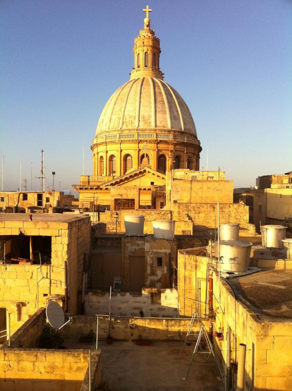 View from the terrace - Refurbished city house with terrasse La Valletta - Valletta - rentals
