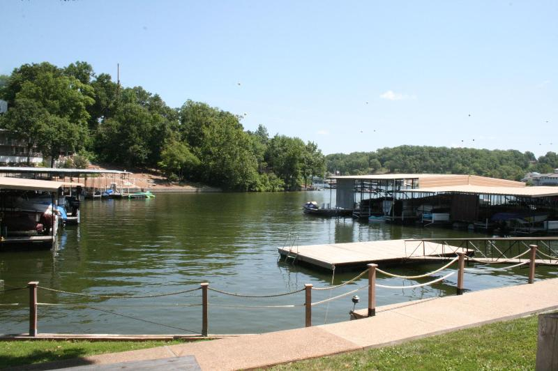 View from patio - Lake Front Condo with  slip Next to Golf Course ! - Lake Ozark - rentals
