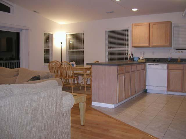 Great Room with sliders to large furnished deck with grille - Best Location on Island Large Beach Block Family No Streets to Cross $100.00 OFF weekly rentals - Wildwood - rentals