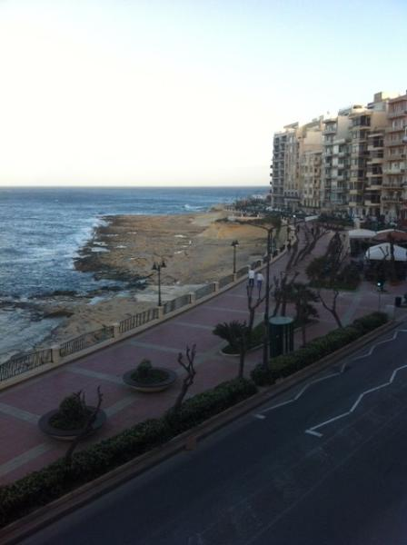 views from balcony - 3 Bedroom seafront apartment in Sliema - Sliema - rentals
