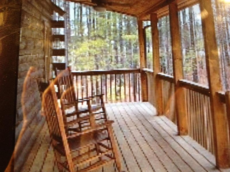 rocking on the front porch - Stonecrest Mountain Retreat- DISCOUNT IN MAY - Lake Lure - rentals