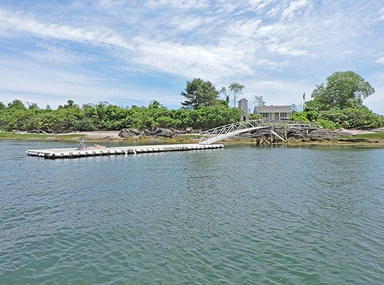 Main Cottage  Dock from Casco Bay - STURDIVANT ISLAND COTTAGES - Island off Falmouth - Chebeague Island - rentals