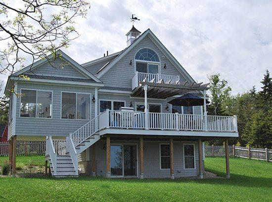 Back Porch facing water - BEACHCOMBER - Town of Harpswell - Harpswell - rentals