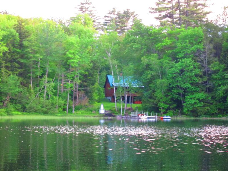 Summer beauty on a Maine lake. - Maine lakeside log house; hot tub, swim raft, boat - Farmington - rentals