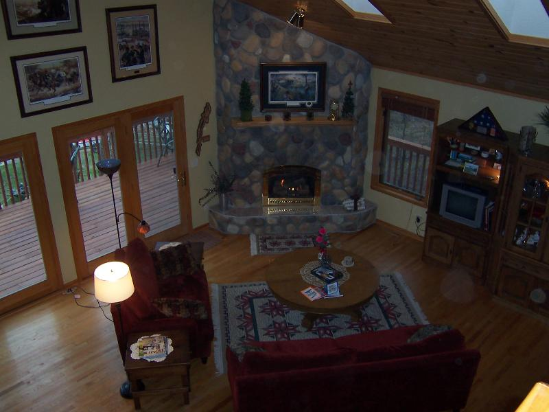 View of Great Room from Loft - Relax on one of Minnesota's finest lakes. - Ponsford - rentals