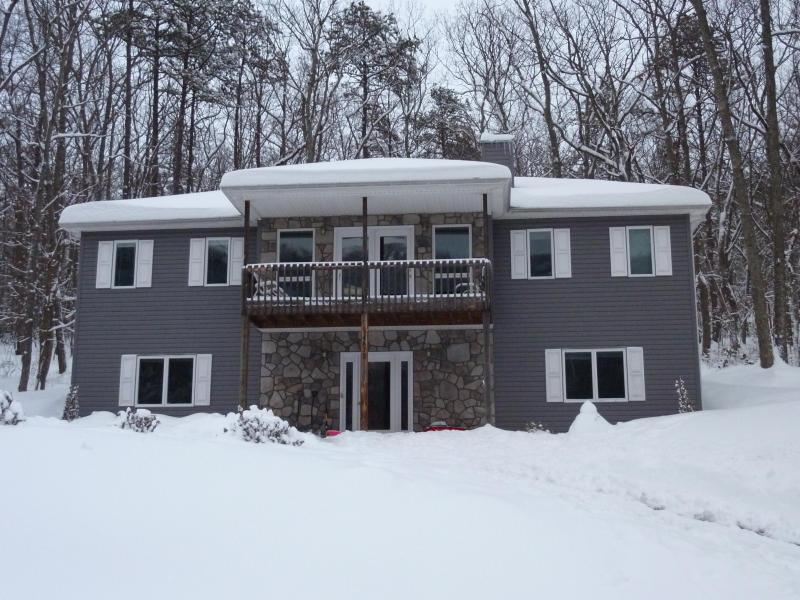 Snowy Winter Day - Rustic & Luxurious Retreat Nestled up to Forest - Massanutten - rentals