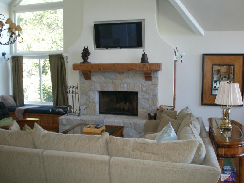 Living Room - LAKE FRONT HOME ON LAKE ARROWHEAD, CA - Lake Arrowhead - rentals