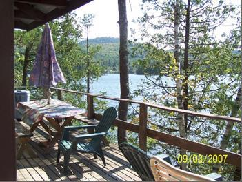 view from Kingfisher deck - Kingfisher - SunderLand Cottages - Oriskany - rentals