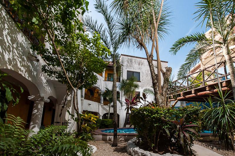Courtyard   - Mexican Hacienda walk to the beach! - Playa del Carmen - rentals