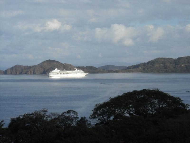 View from livingroom  Watch world class yachts come and go from the Papagayo Marina - Spyglass hill - Playa Hermosa - rentals