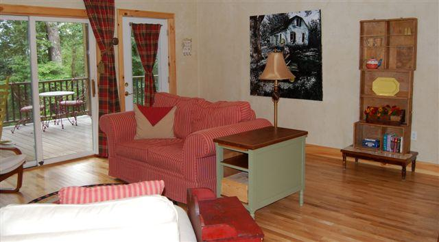 Airy, spacious bright living, dining area - SUNSET COVE AT LAKE GLENVILLE - Cullowhee - rentals