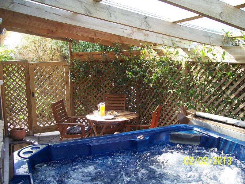 Muffin's private sunny patio with hot spa pool. - Muffin's Self-Contained Bed & Breakfast - Cambridge - rentals
