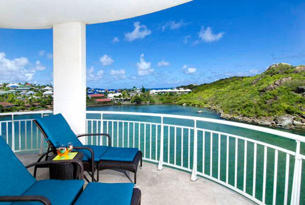 St. Martin Villa 209 An Exquisite Penthouse Featuring Spectacular Views Of Both The Ocean And Marina. - Image 1 - Oyster Pond - rentals