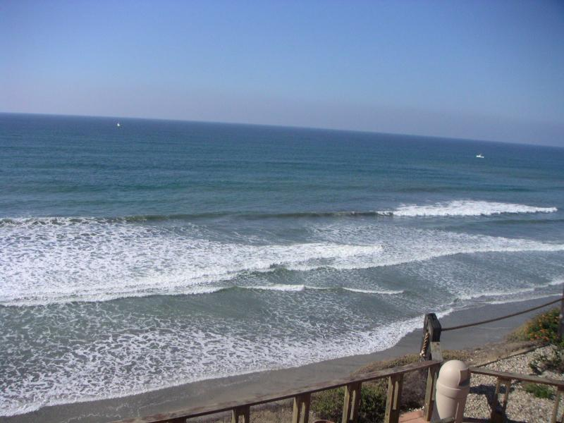 ocean view from bluff (not from our unit) - 3BR Condo Steps from Beach-Family Vacation Perfect - Solana Beach - rentals
