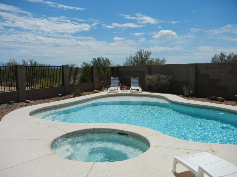 View of Pool and Hot Tub - Vacation with a view, Panoramic Catalina Mt Views, Quiet, Outstanding location. - Tucson - rentals