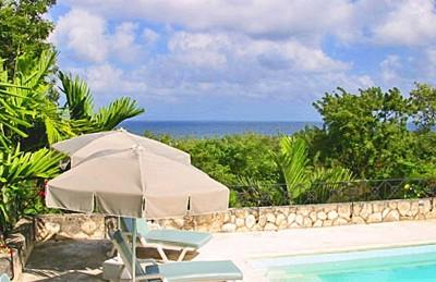 Pool and ocean view - Gorgeous Montego Bay villa overlooking Caribbean - Montego Bay - rentals