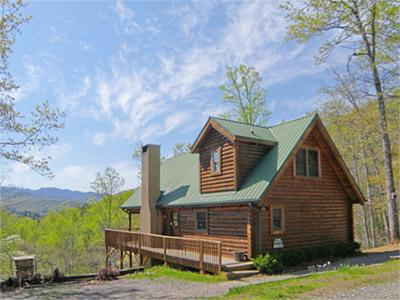Overlooking The Nantahala Mountains - Hidden Acres - Custom Log Home with Stunning Long Range Views - Franklin - rentals