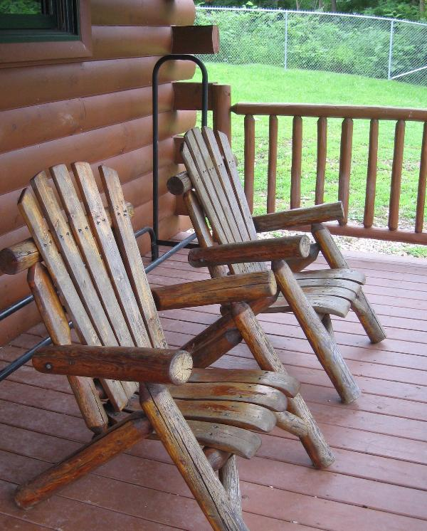Front porch with Adirondack chairs - Mountain Rest Cabin - Blairsville - rentals