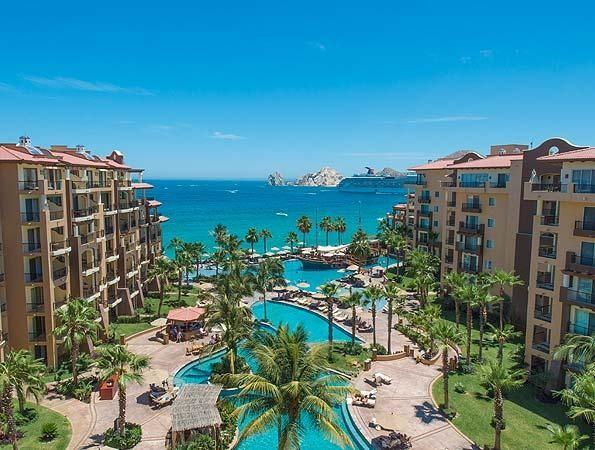 View of pool and bay - Luxury 2 BD/3 BA at Villa del Arco Resort & Spa - Cabo San Lucas - rentals