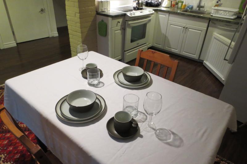 ready for dining in - Executive Basement Apartment - Toronto - rentals