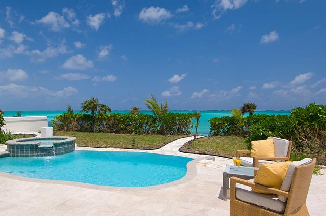 Large pool/patio, oceanfront - Pelican Beach Villa - 3-Br OceanFront North Caicos - North Caicos - rentals