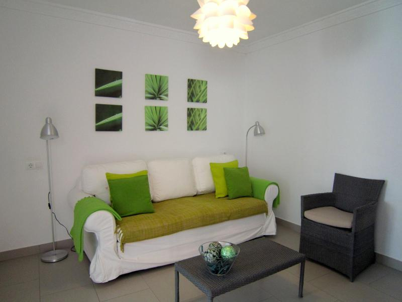 salon with tv and woodburner - Newly reformed townhouse 120m from the Ocean. - Chipiona - rentals