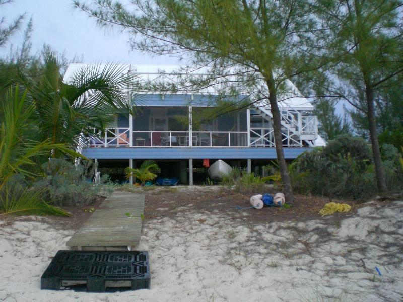 Reef House from beach - SECLUDED OCEAN FRONT 4 BR HOUSE ON ABACO, BAHAMAS - Marsh Harbour - rentals