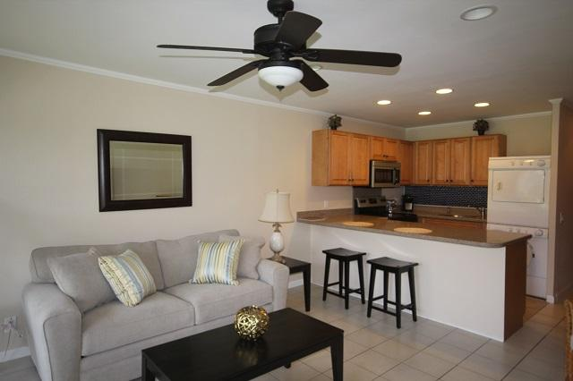 Kitchen and Living Area - everything brand new! - Newly Remodeled 1BR/1BA Condo - Kailua-Kona - rentals