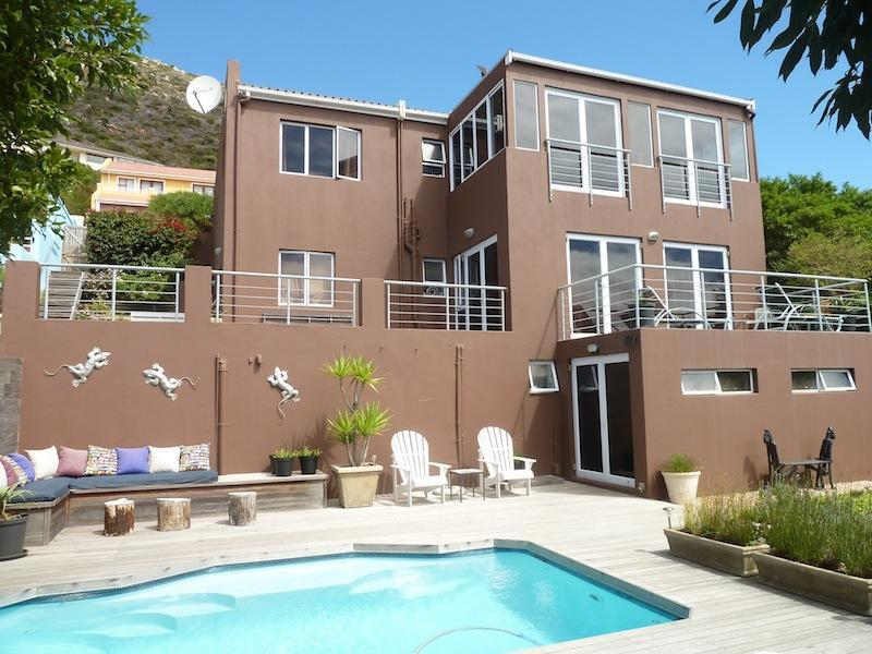 Back side of the house, with pool and sundeck - Explore Cape Town  from B&B Inn Between - Fish Hoek - rentals