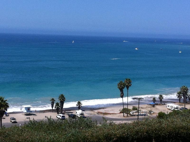 VIEW FROM BACK PATIO ON THE BLUFF - Capistrano Beach Bluff - Whitewater View From Above - Capistrano Beach - rentals