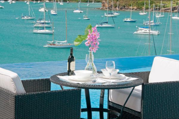 Poolside Overlooking Prickly Bay and the Caribbean Sea to the West - Blue Point Villa, Grenada, West Indies - Caribbean - Saint George's - rentals