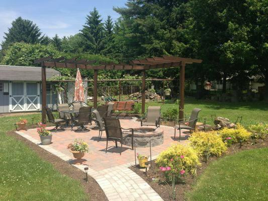 Shared Patio with fire pit - Come and Be Our Guest - Beautiful 1 Bedroom - State College - rentals