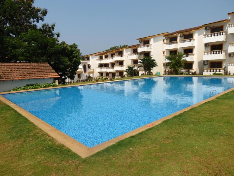 Very Large Swimming Pool - 47) 2ND FLOOR 1 BED APARTMENT, GREENWOOD MEADOWS, CANDOLIM - Candolim - rentals