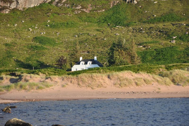 Mungasdale Cottage from the beach. - Mungasdale Cottage Laide Scotland - Laide - rentals