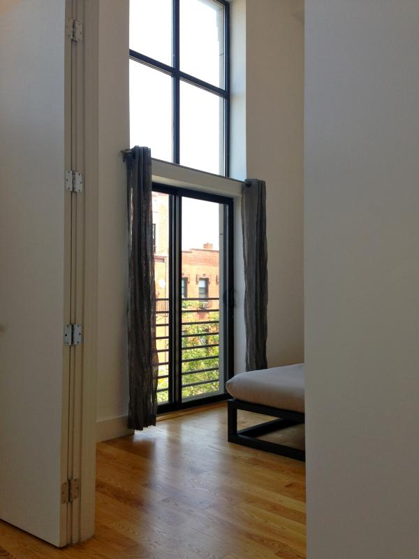 Bedroom 1, Private Balcony - Modern Loft, Perfect Williamsburg Location - Brooklyn - rentals