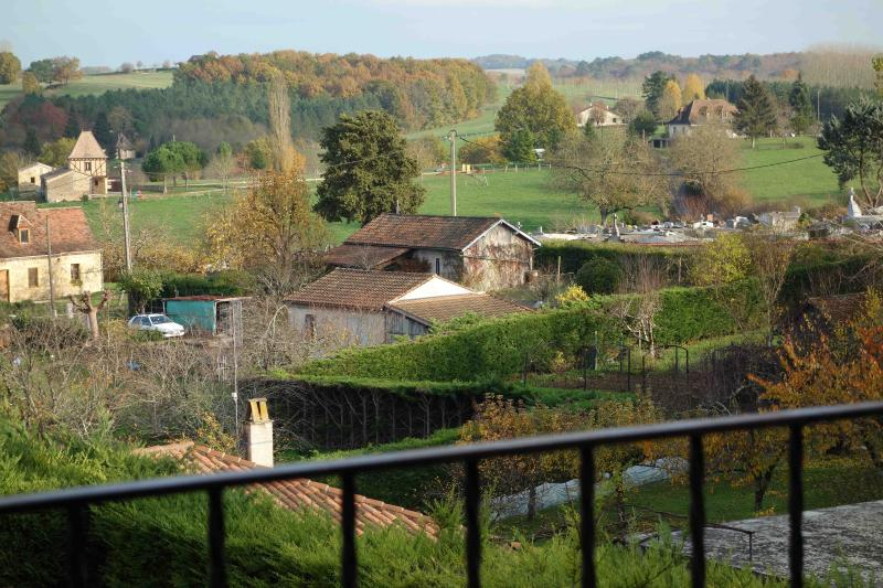 View from the terrace - 3 * 1820 stone townhouse in the heart of a bastide - Beaumont-du-Perigord - rentals