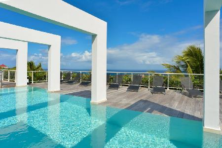 Hillside villa Eclipse with ocean views, heated pool, fitness room & daily maid - Image 1 - Vitet - rentals