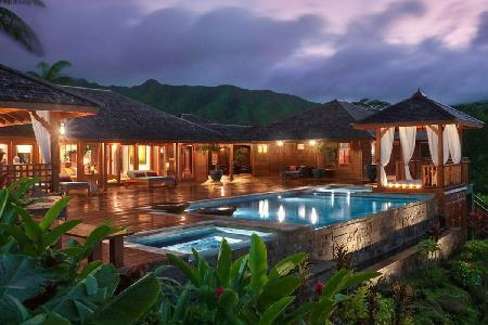 Serene Bali Lani Villa - panoramic pool and lake views & salt-water infinity pool and Jacuzzi - Image 1 - Kalihiwai - rentals