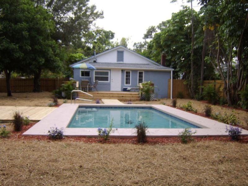 Rear of House and Pool - Charli's Retreat - Pool, Hot Tub, Game (sleep 6-8) - Bradenton - rentals