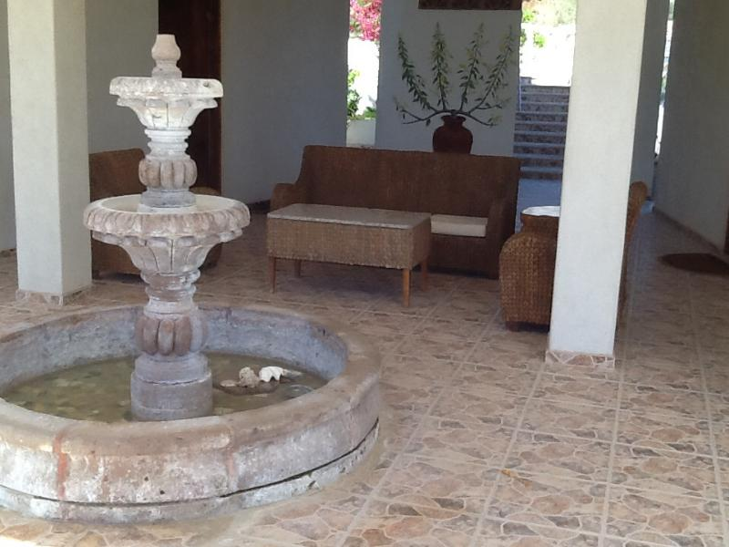 Down stairs breeze way sitting area - Two story Spanish style with pool - Los Barriles - rentals