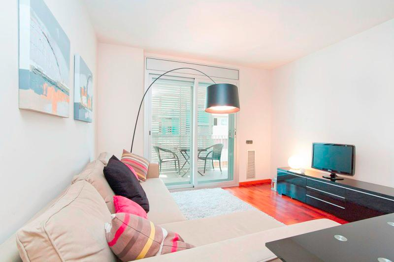 Living area with access to private terrace - Spacious and quiet apt in Eixample! - Barcelona - rentals