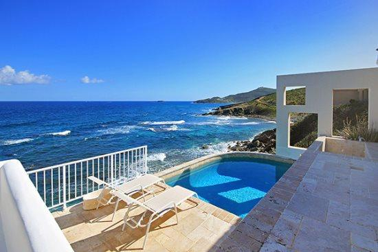 Spectacular view from the terrace and pool - Villa Ella *Dawn Beach* - Dawn Beach - rentals