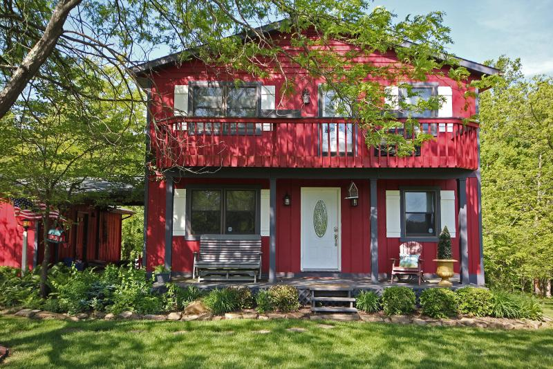 front porch of home - Beagle Hill Farmhouse- close to the state parks! - Logan - rentals