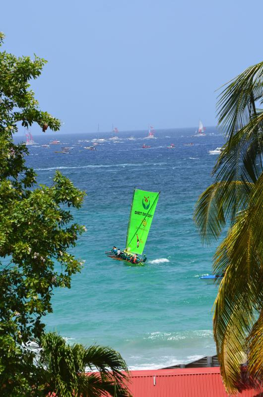 Yearly traditional boat race followed from the studio. - GREEN DIAMOND,  Le DIAMANT, Martinique - Les Anses d'Arlet - rentals
