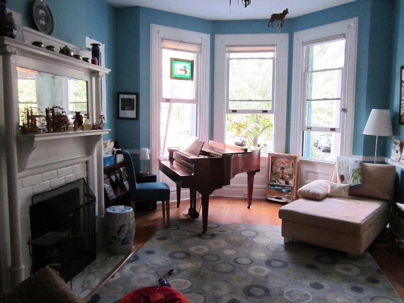 Living room - Stunning Victorian brownstone in lovely Shadyside - Pittsburgh - rentals