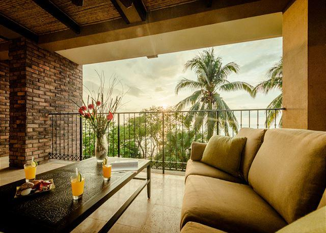 balcony with view - Beachfront views with 3bd 3.5ba on the point in Tamarindo - Tamarindo - rentals