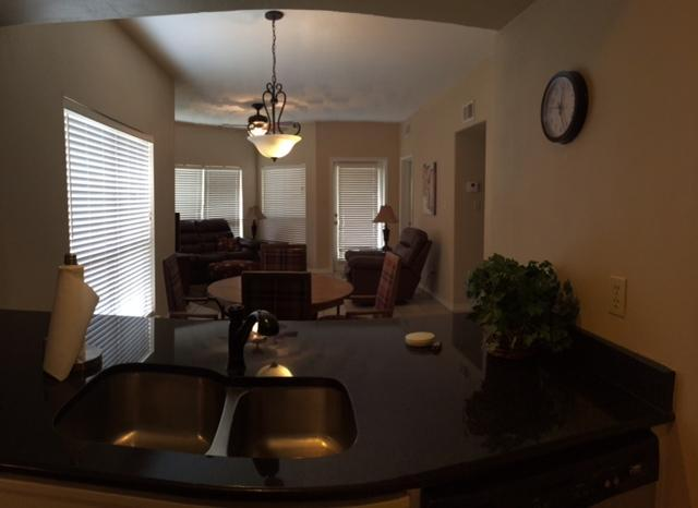 Kitchen pass through bar (2 bar stools) - River 2/2 Condo Inverness - Winter Texan Special - New Braunfels - rentals