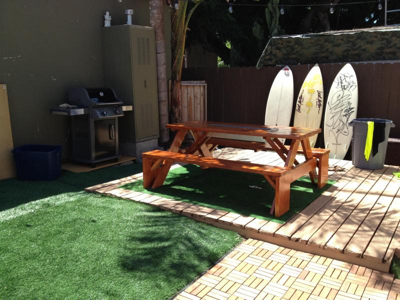 Your patio to enjoy on your trip (surfboards not included) - Awesome Ocean Beach Cottage near all SD has to offer! - Mission Beach - rentals